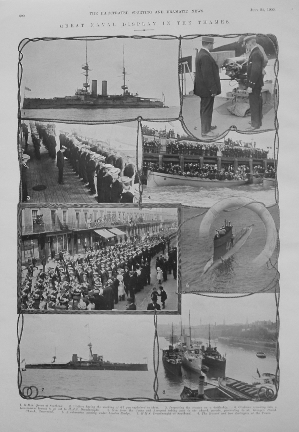Great Naval Display in the Thames. 1909