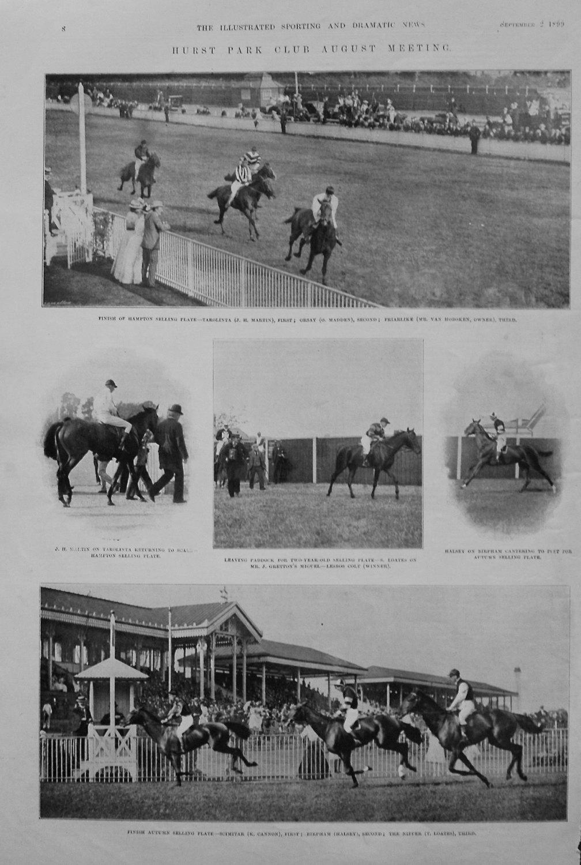 Hurst Park Club August Meeting. 1899