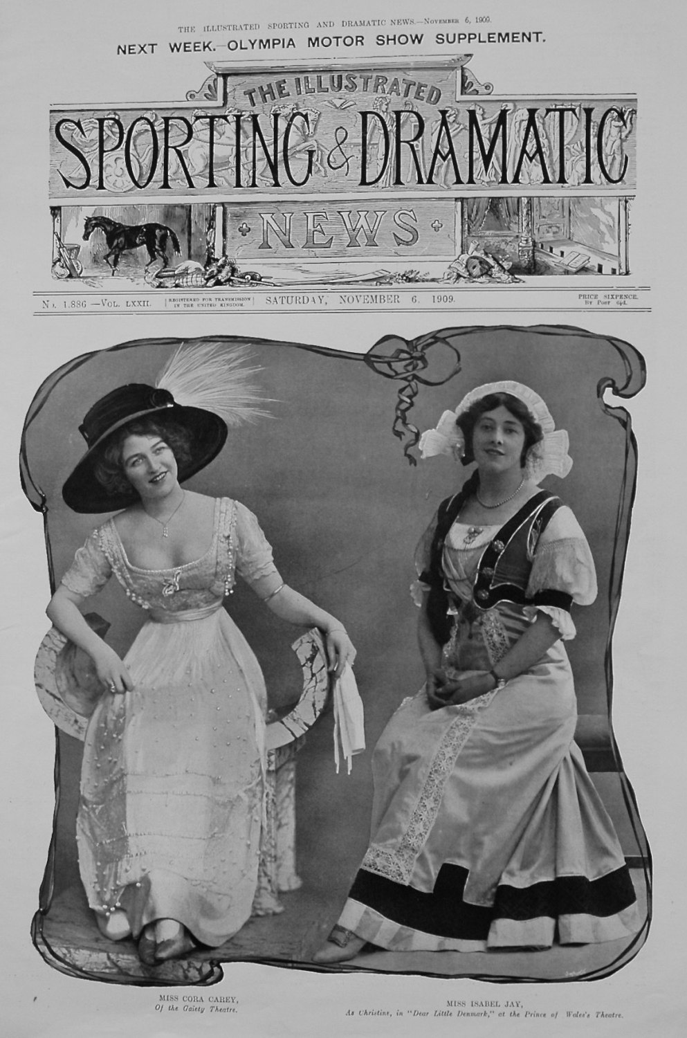 Miss Cora Carey, and Miss Isabel Jay. 1909
