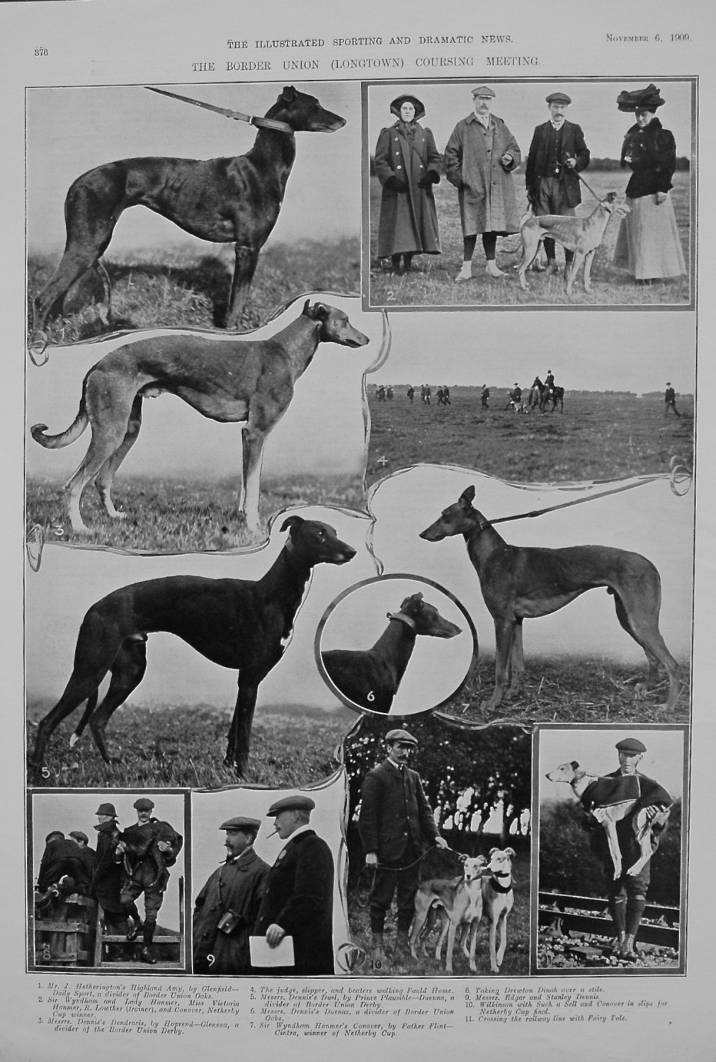 The Border Union (Longtown) Coursing Meeting. 1909