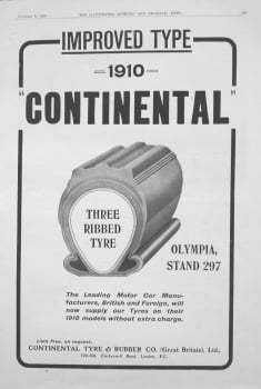 Continental Tyre & Rubber Co. 1909