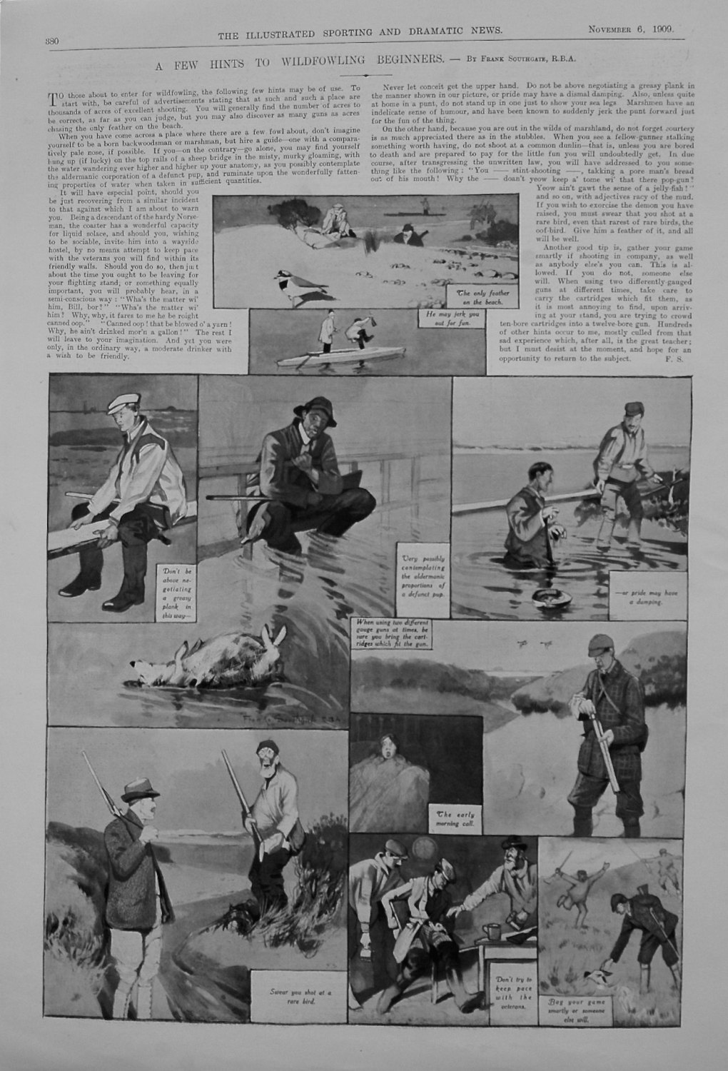 A Few Hints to Wildfowling Beginners. 1909