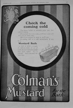 Colman's Mustard. 1909
