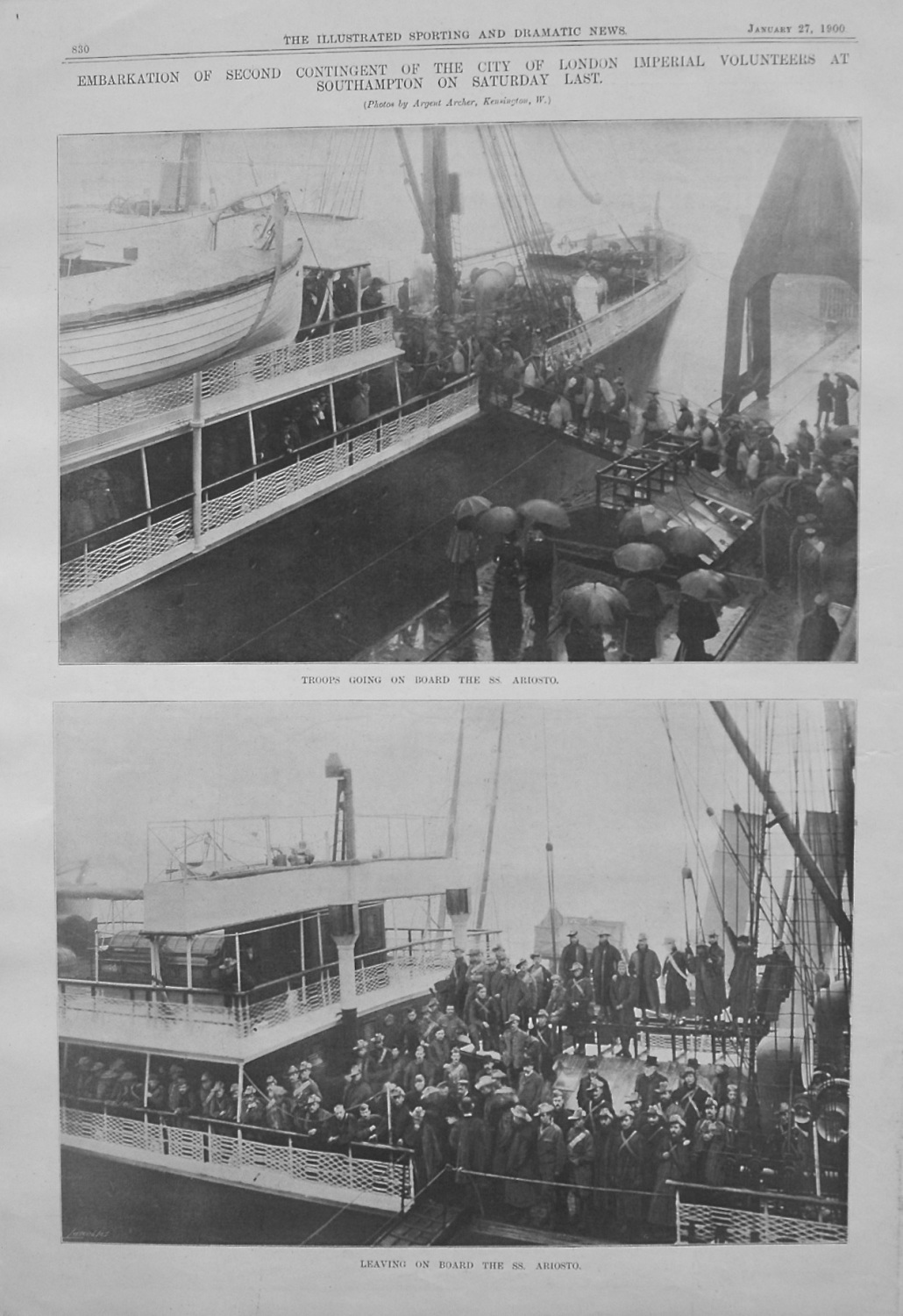 Embarkation of Second Contingent of the City of London Imperial Volunteers