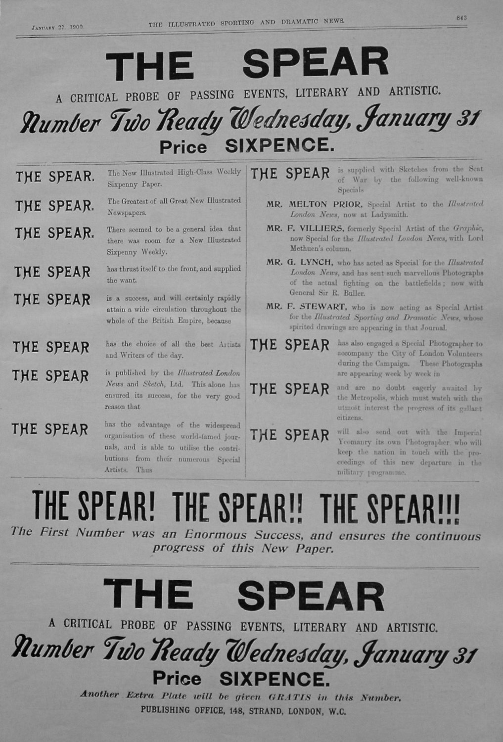 The Spear. 1900