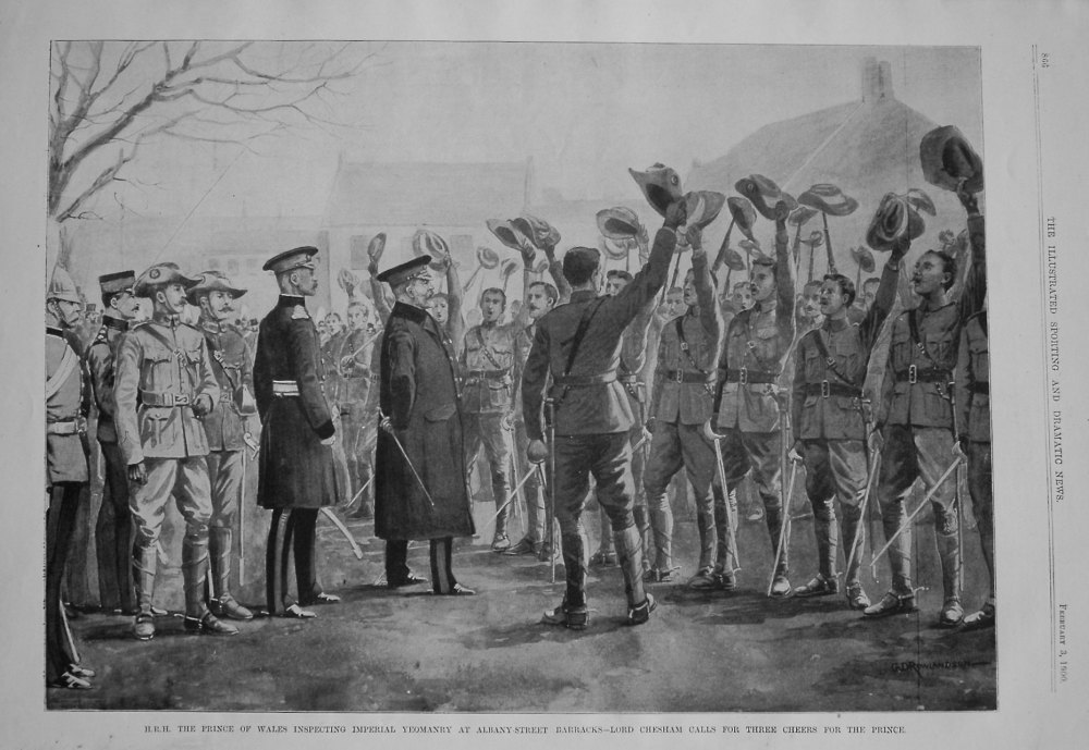 H.R.H. The Prince of Wales Inspecting Imperial Yeomanry at Albany-Street Ba