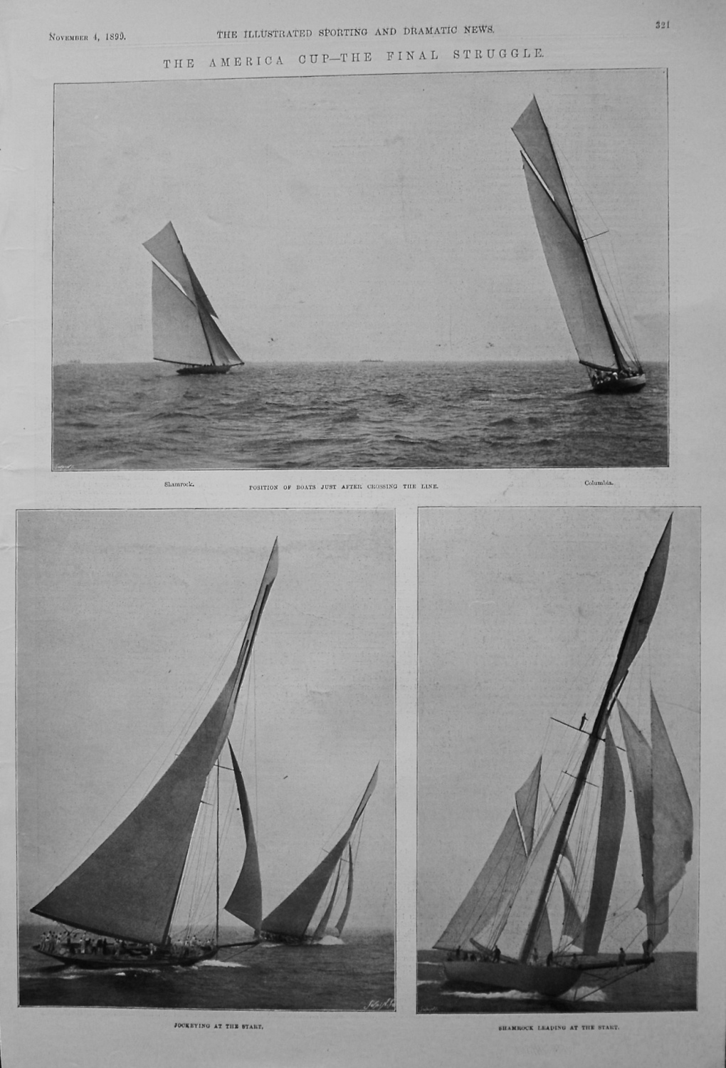 The America Cup - The Final Struggle. 1899