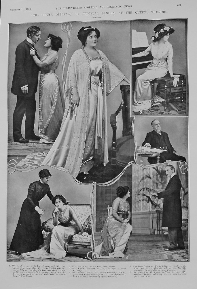 """""""The House Opposite,"""" By Percival Landon, at the Queen's Theatre. 1909"""