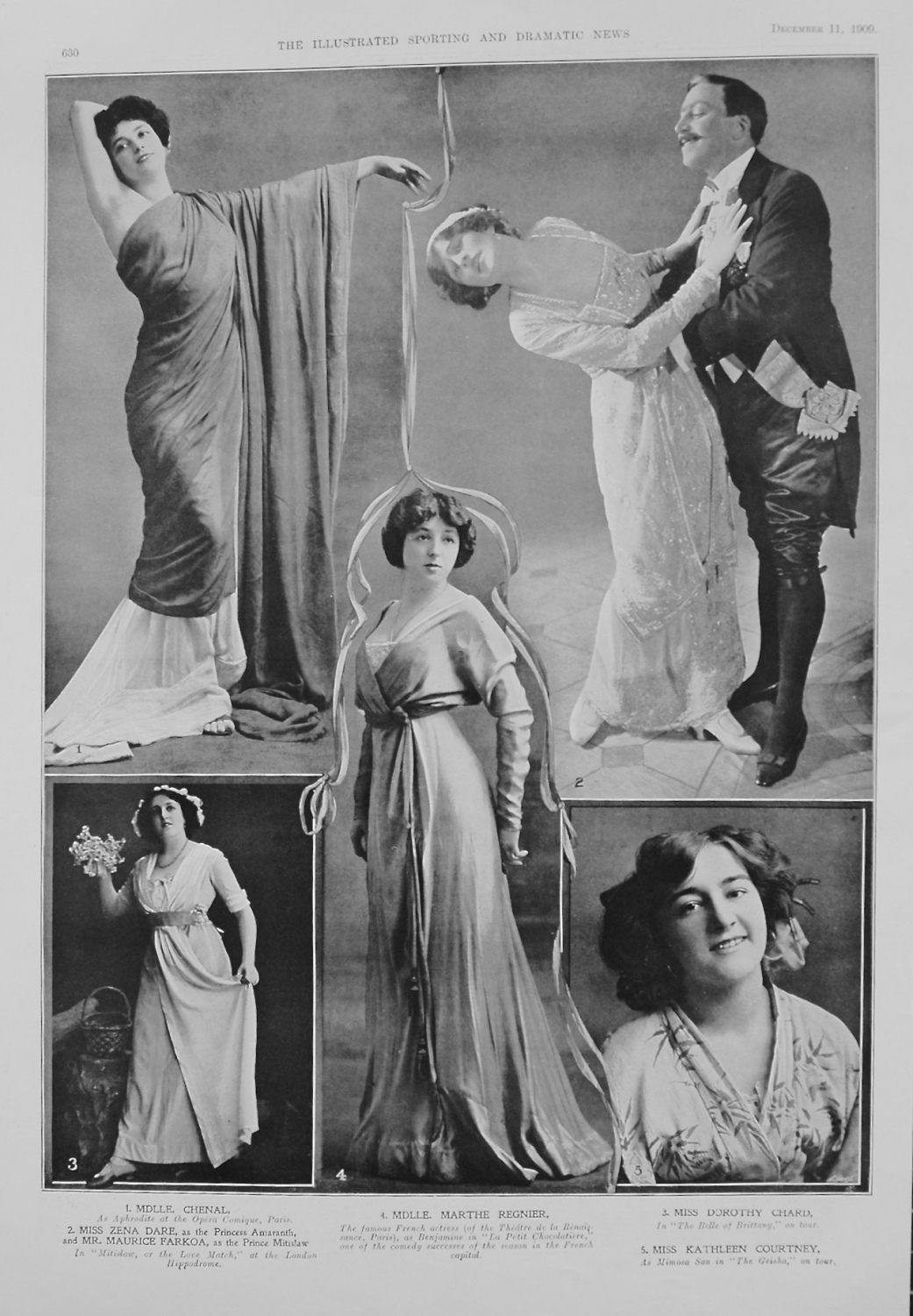 Actresses from the Stage December 11th 1909.