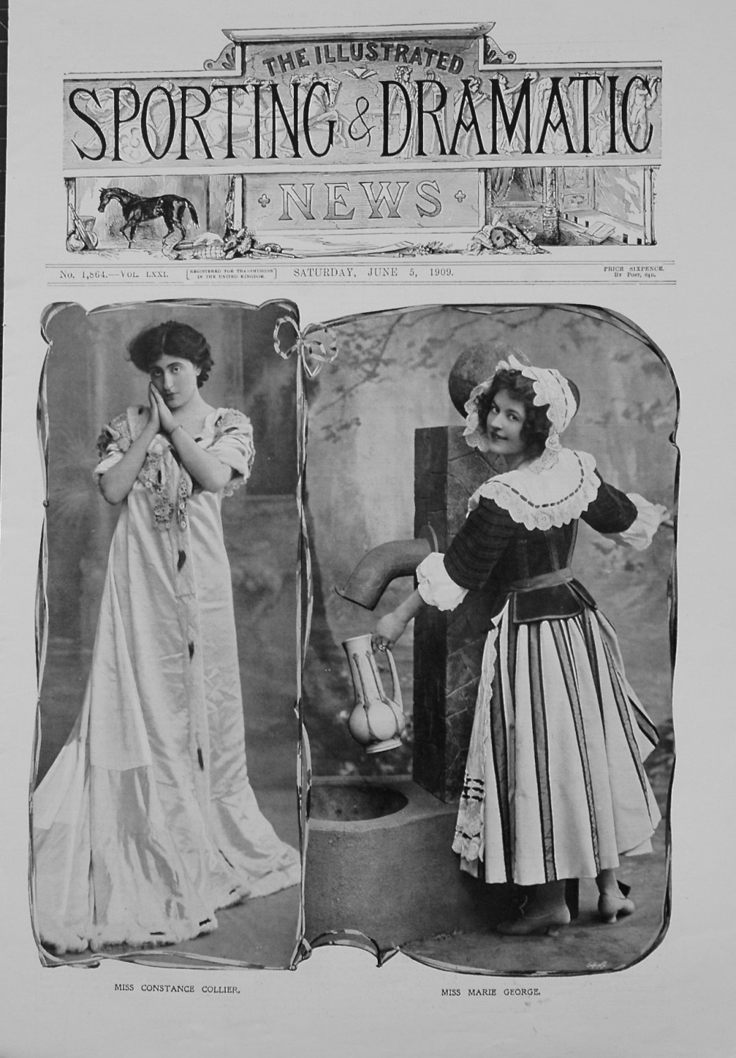 Miss Constance Collier, and Miss Marie George. 1909