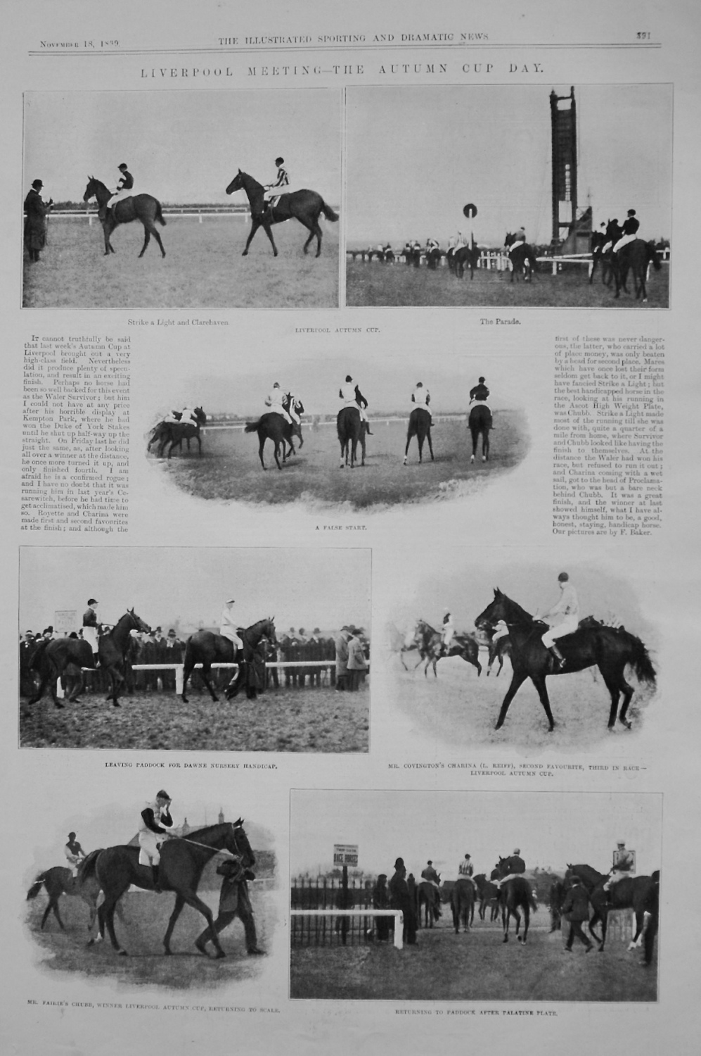 Liverpool Meeting - The Autumn Cup Day. 1899
