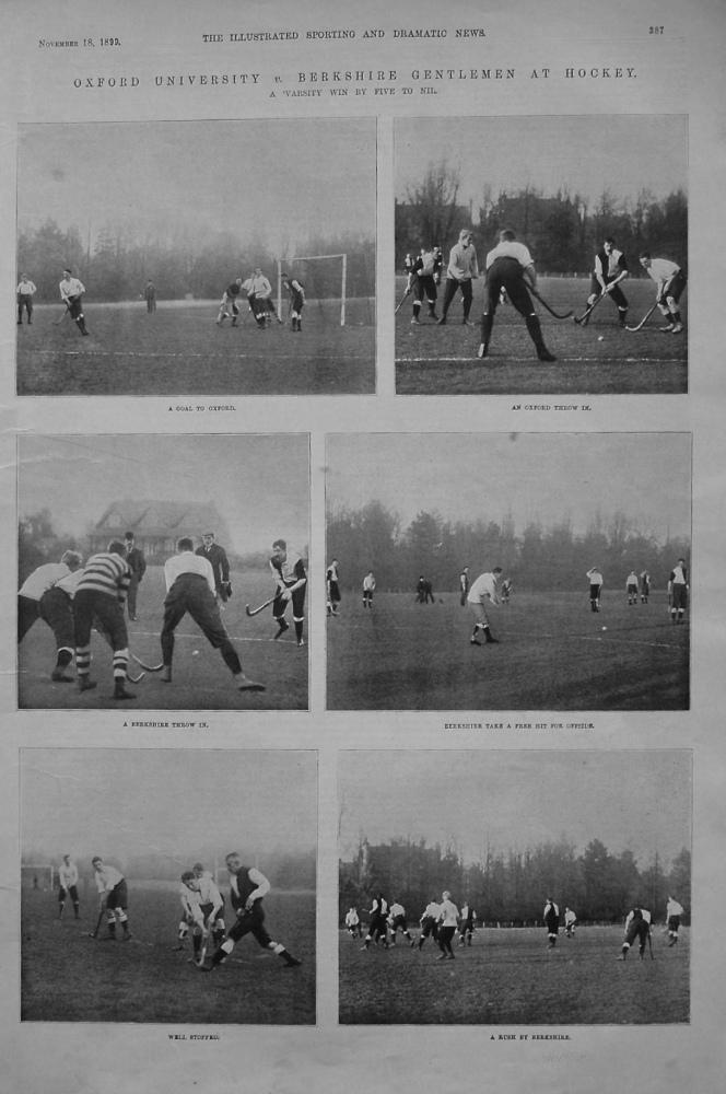 Oxford University v. Berkshire Gentlemen at Hockey. 1899