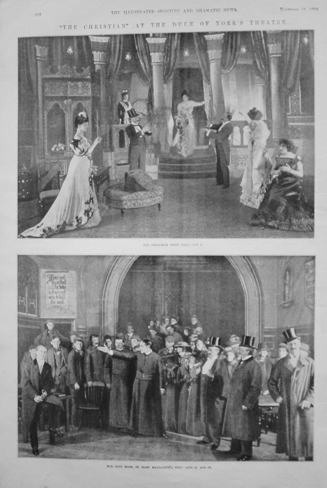 """""""The Christian"""" at the Duke of York's Theatre. 1899"""
