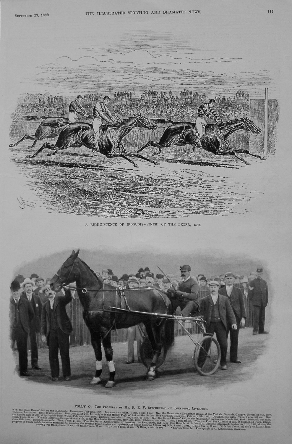 A Reminiscence of Iroquois - Finish of St. Leger, 1881.
