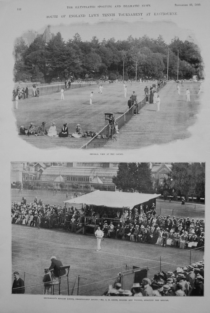 South of England Lawn Tennis Tournament at Eastbourne. 1899