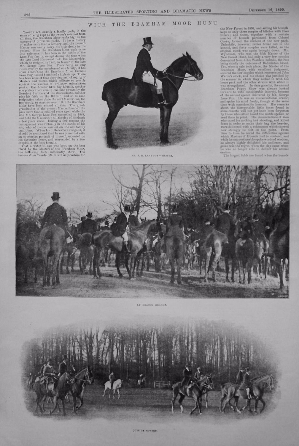 With the Bramham Moor Hunt. 1899