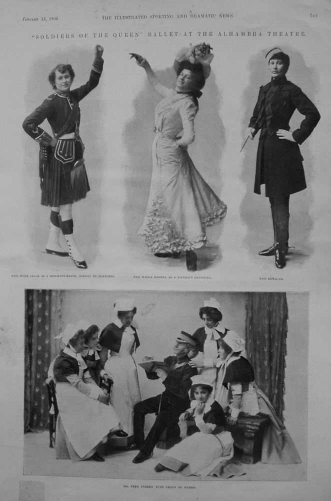 """""""Soldiers of the Queen"""" Ballet at the Alhambra Theatre. 1900"""
