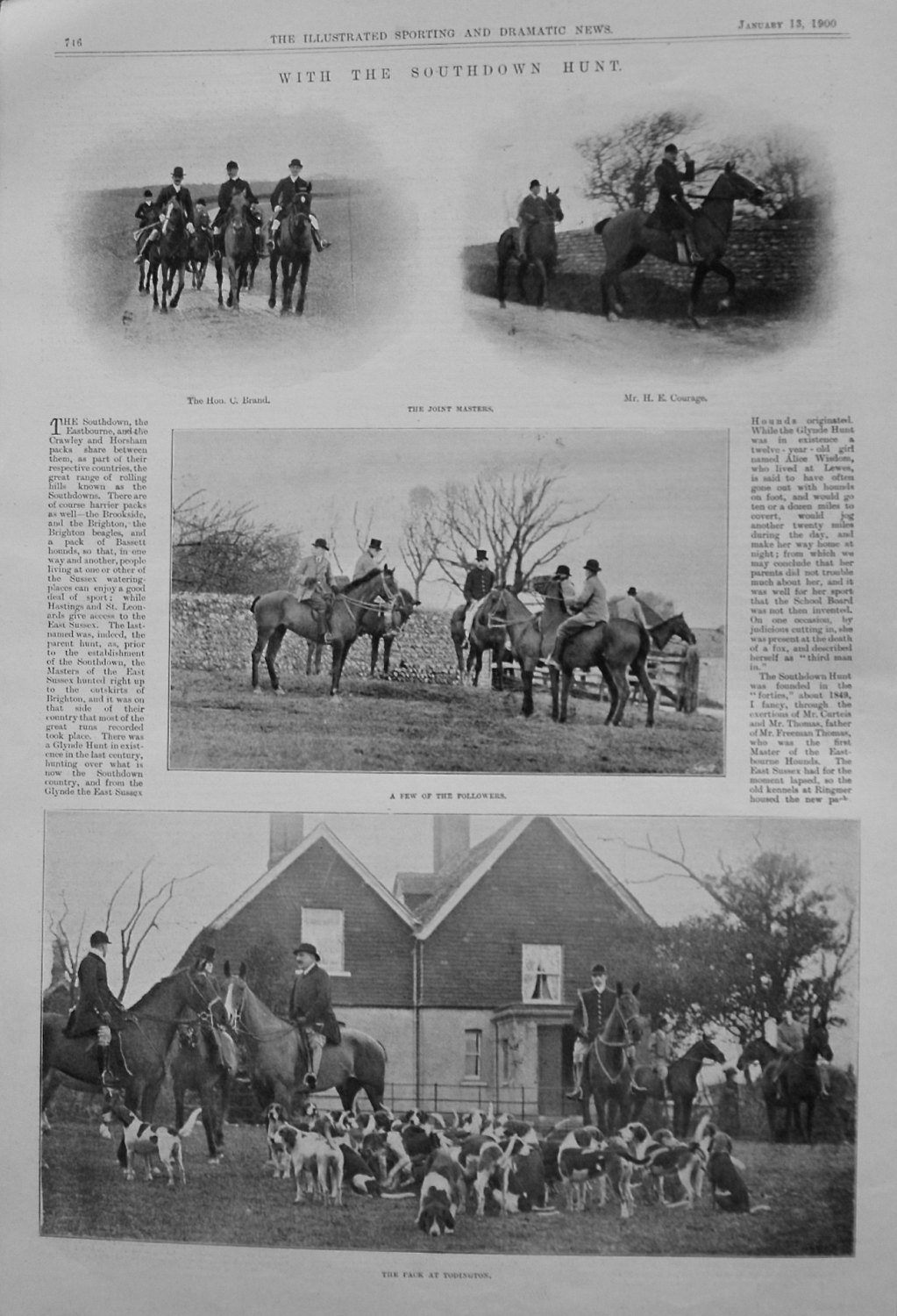 With the Southdown Hunt. 1900