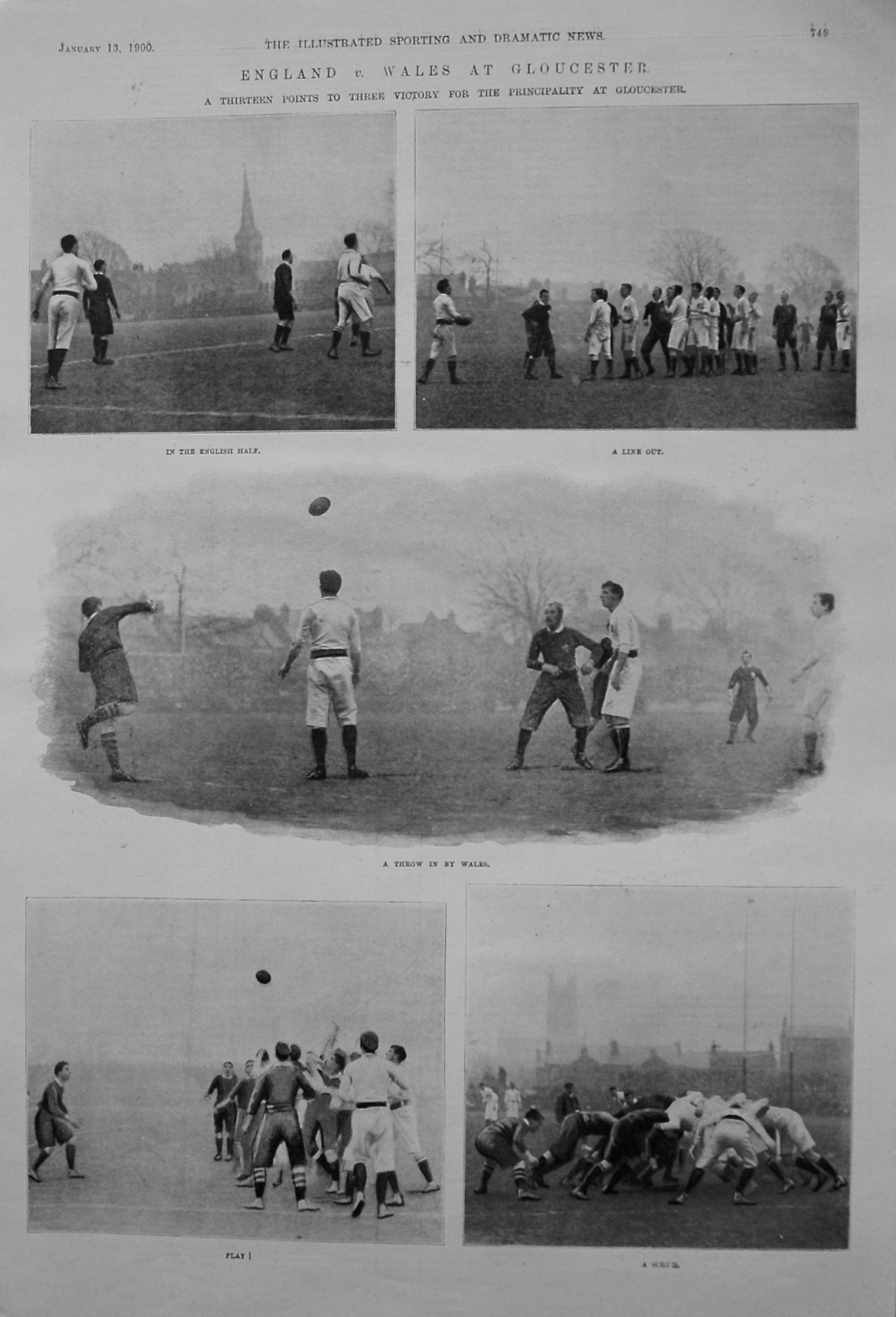 England v. Wales at Gloucester. 1900 (Rugby)