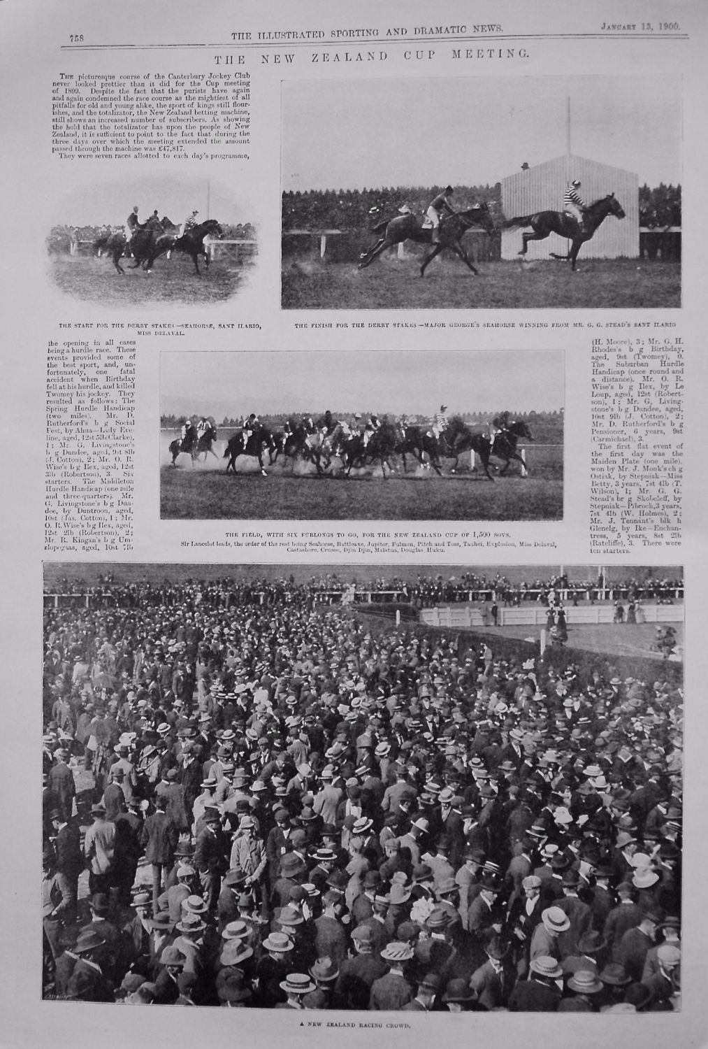 The New Zealand Cup Meeting. (Horse Racing) 1900