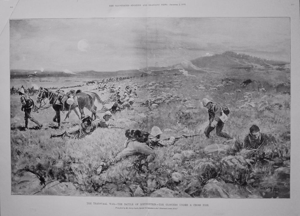 The Transvaal War.-The Battle of Rietfontein.-The Glosters under a Cross Fi