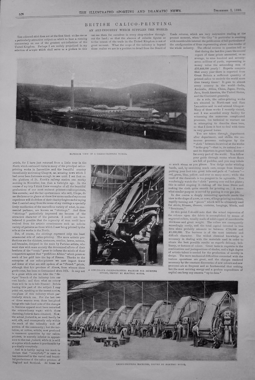 British Calico-Printing. 1899