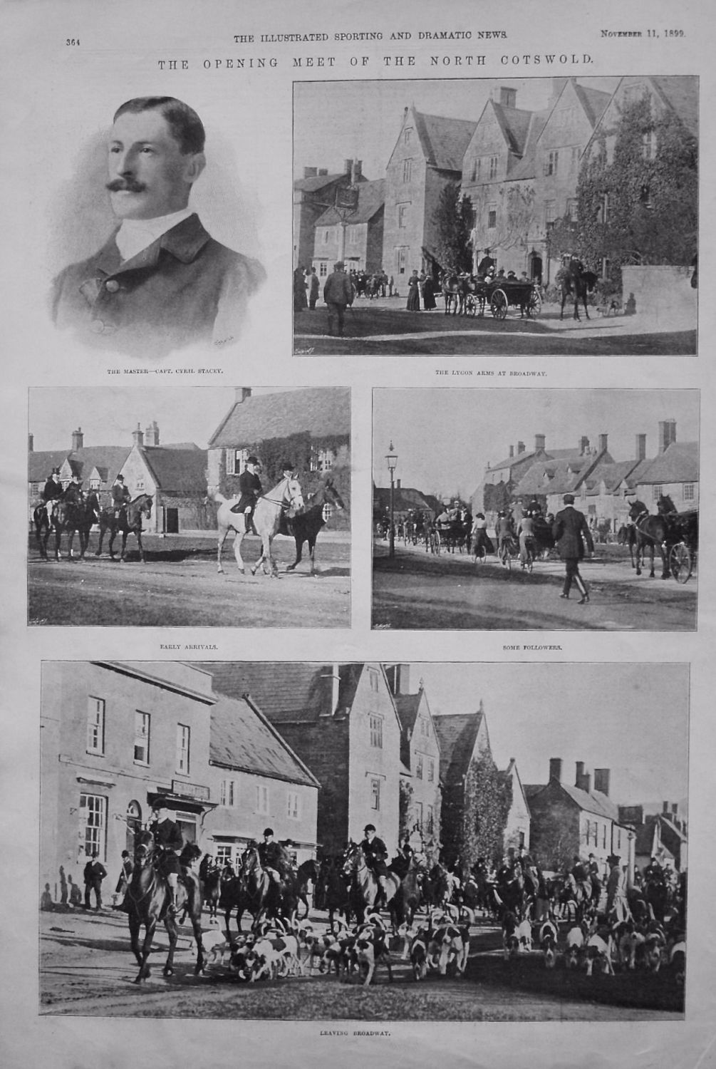 Opening Meet of the North Cotswold. 1899