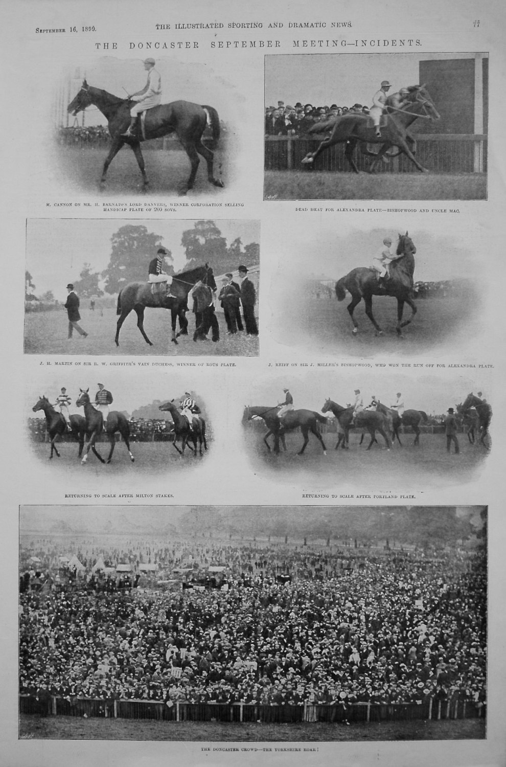 Doncaster September Meeting - Incidents. 1899