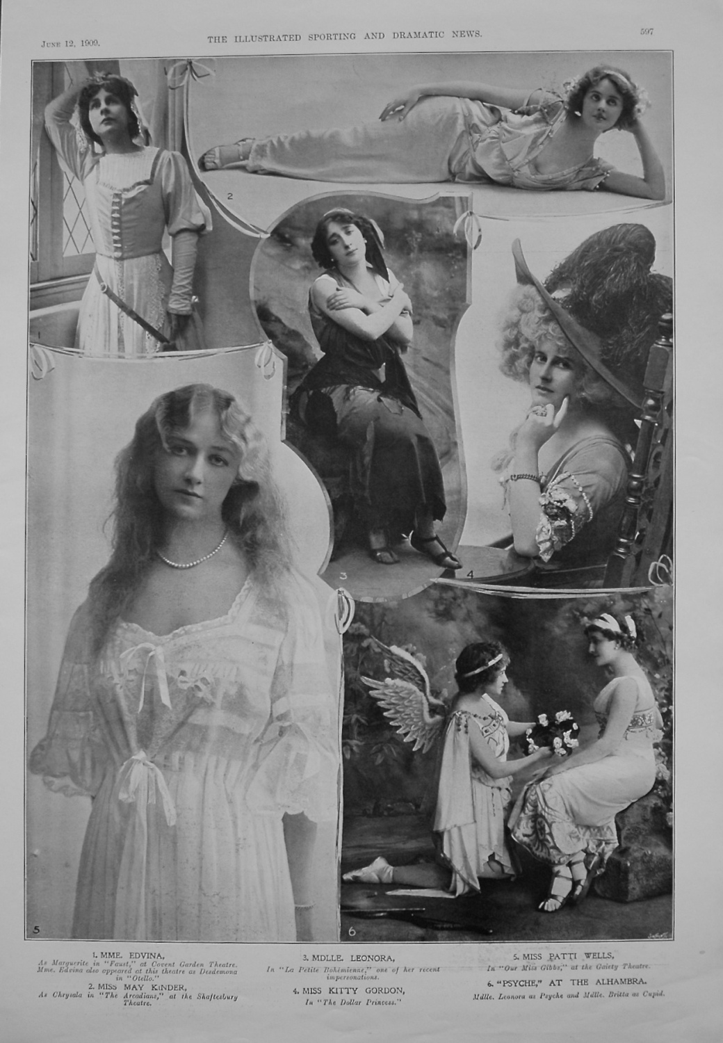 Actresses from the Stage. June 12th 1909.