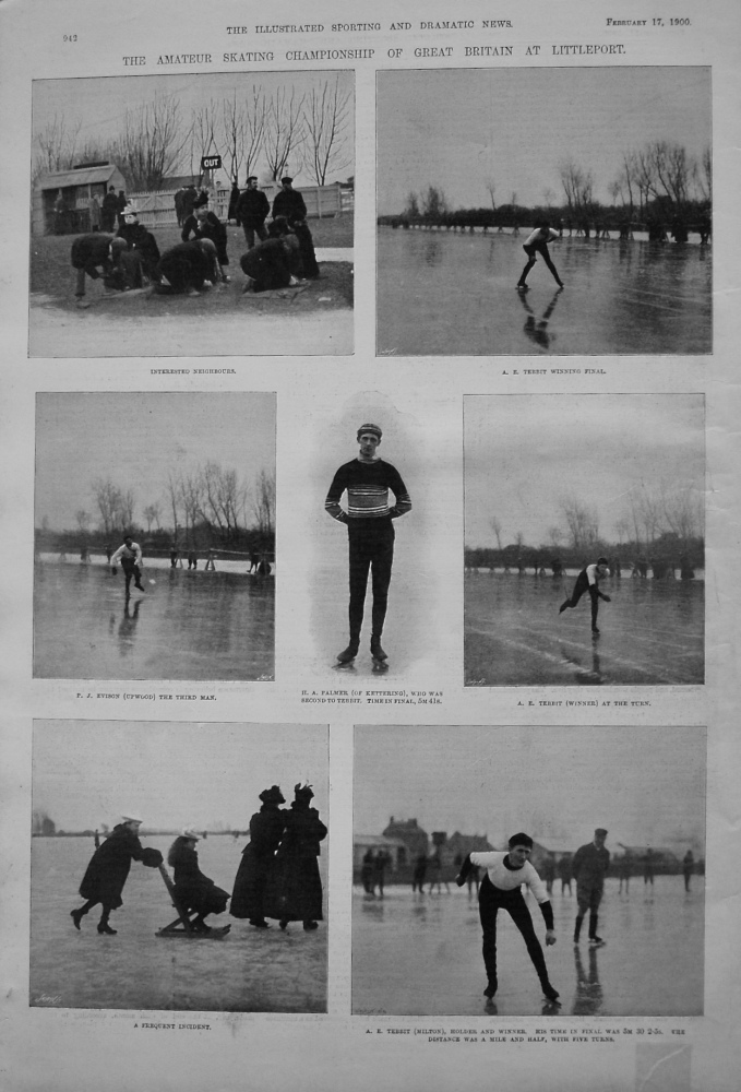 Amateur Skating Championship of Great Britain at Littleport. 1900