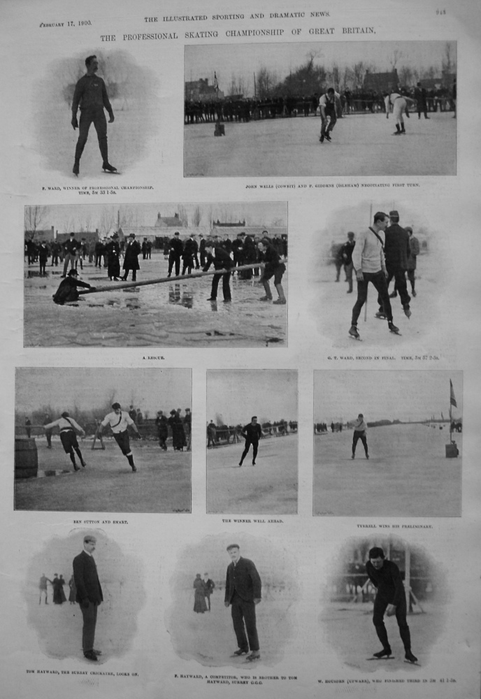 The Professional Skating Championship of Great Britain. 1900
