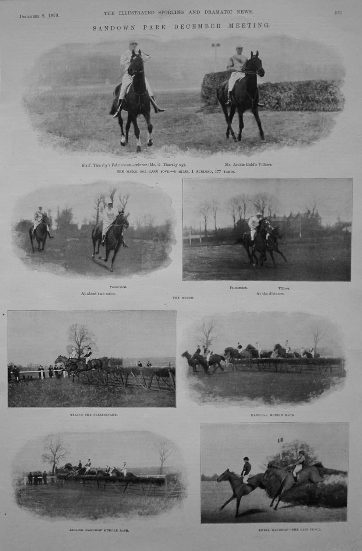Sandown Park December Meeting. 1899.