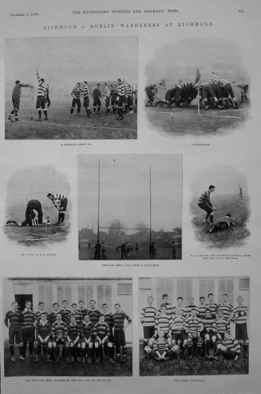 Richmond v. Dublin Wanderers at Richmond. (Rugby) 1899