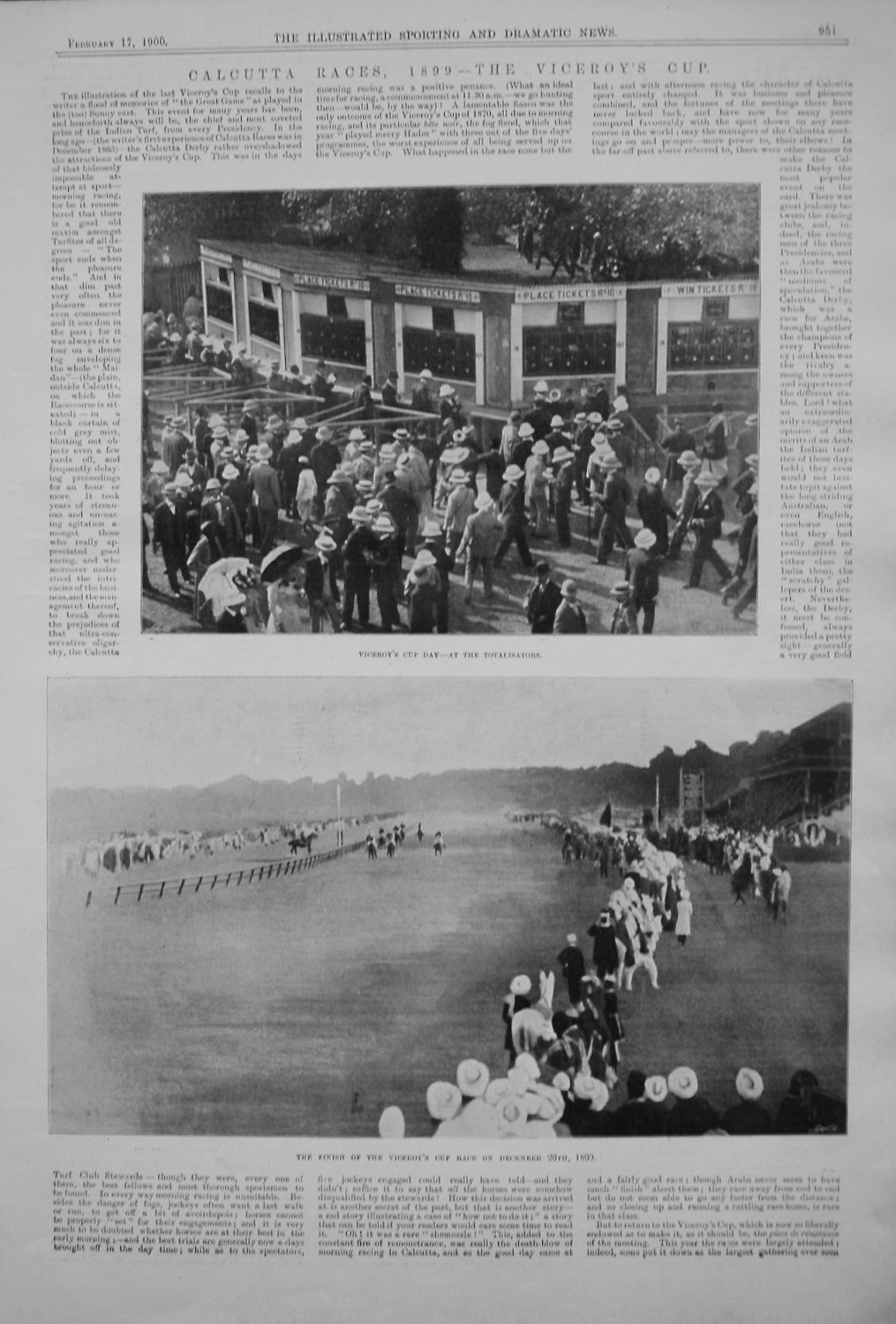 Calcutta Races, 1899 - The Viceroy's Cup.