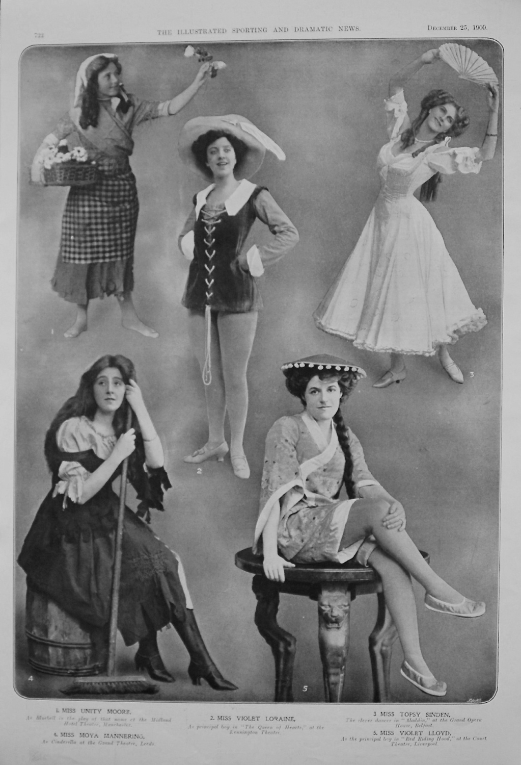 Actresses from the Stage. December 25th 1909.