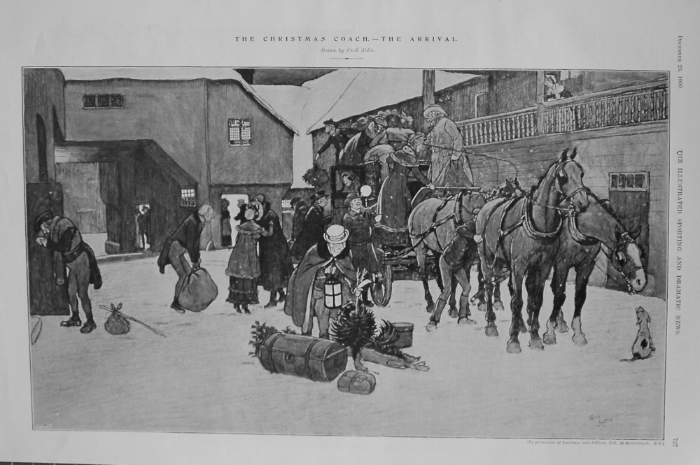 The Christmas Coach. - The Arrival. 1909