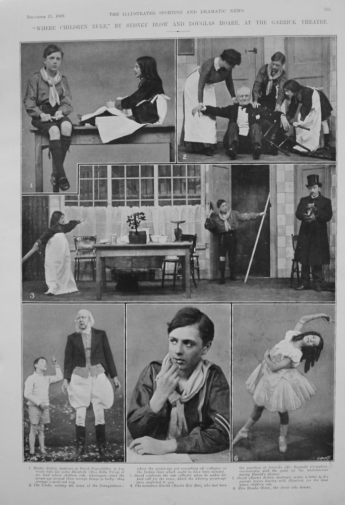 """Where Children Rule,"" by Sydney Blow and Douglas Hoare, at the Garrick Theatre. 1909"
