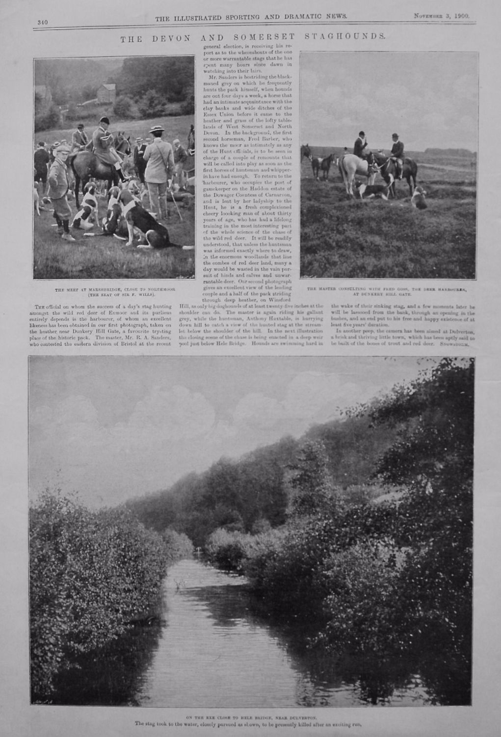 Devon and Somerset Staghounds. 1900