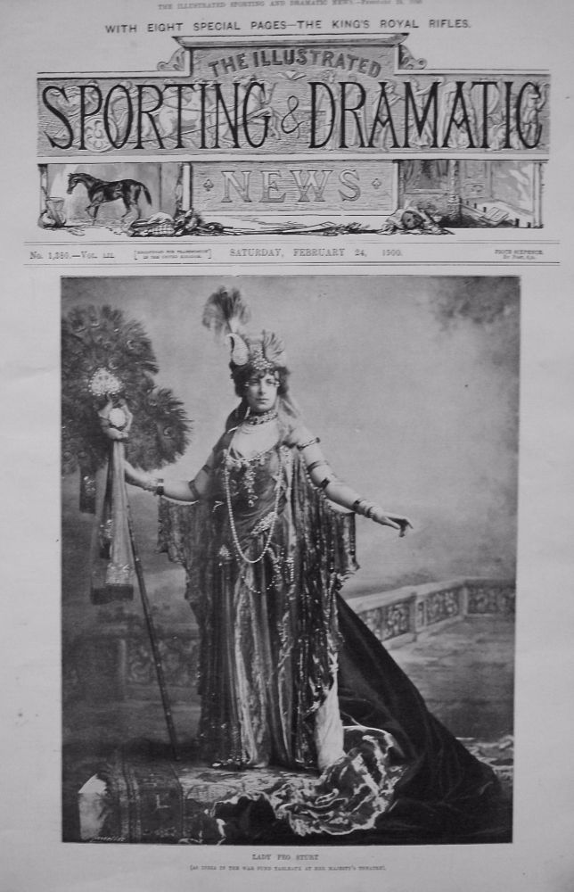 Lady Feo Sturt. (as India in the war fund tableaux at Her Majesty's Theatre). 1900