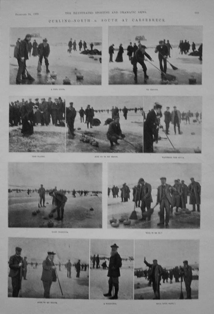 Curling- North v. South at Carsebreck. 1900