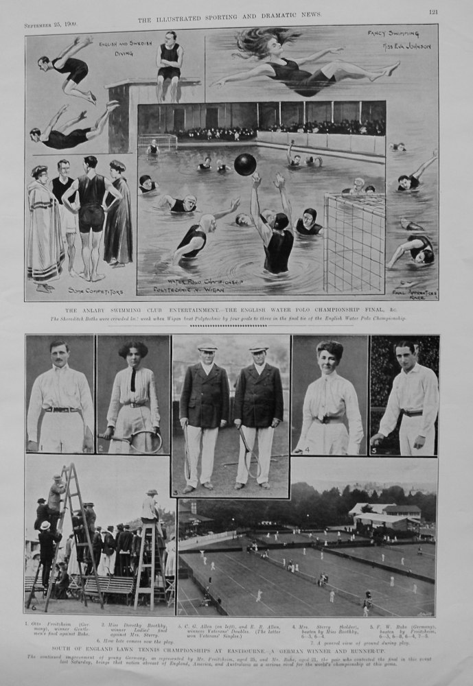 South of England Lawn Tennis Championships at Eastbourne. - A German Winner and Runner-up. 1909