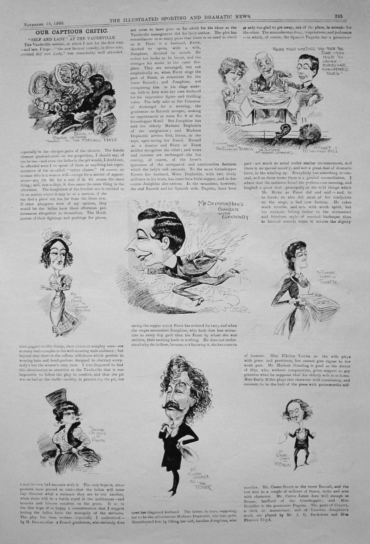 Our Captious Critic. November 10th 1900.
