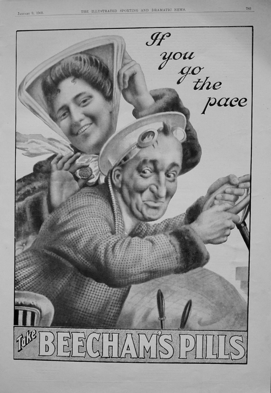 Beecham's Pills. January 1909
