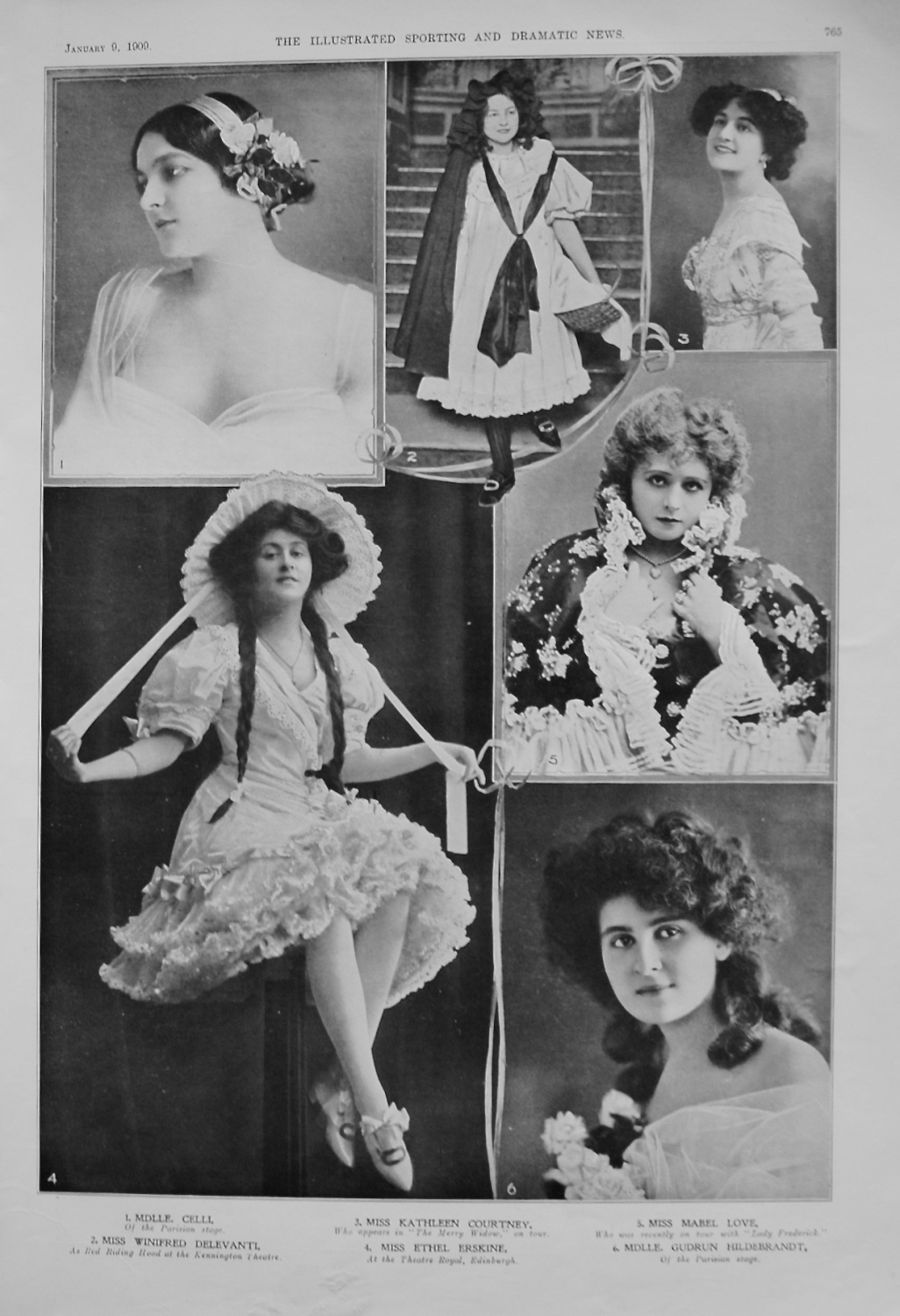 Actresses from the Stage. January 1909.