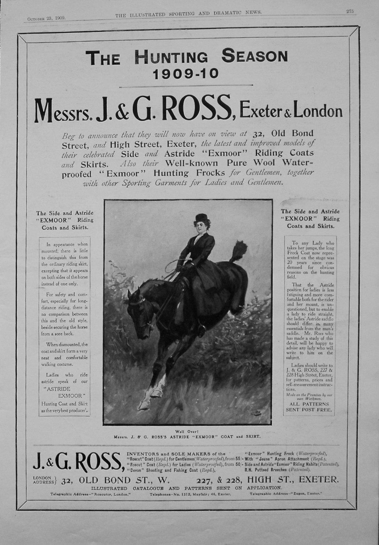 J.&G. Ross, Exeter & London. 1909
