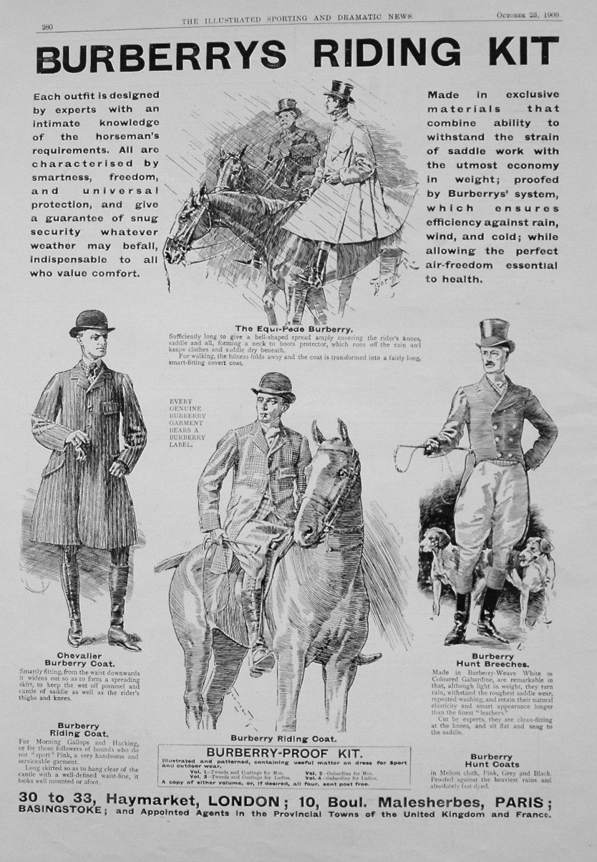 Burberrys Riding Kit. 1909