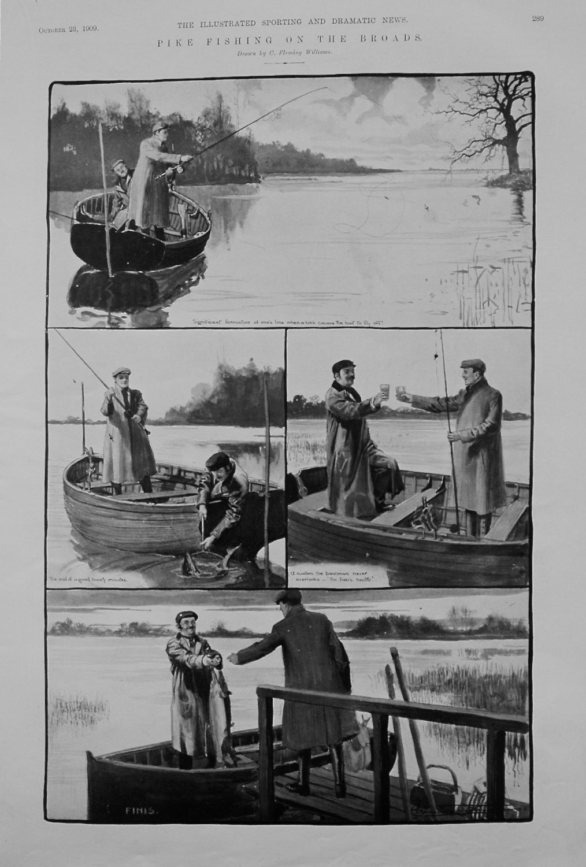 Pike Fishing on the Broads. 1909.