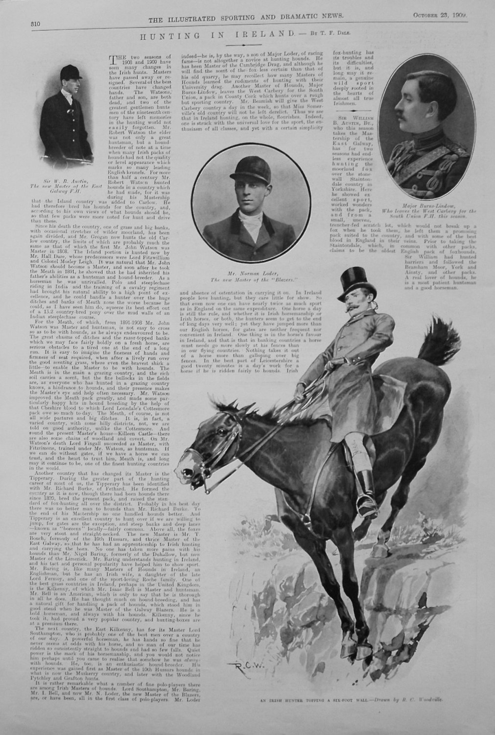 Hunting in Ireland. by T. F. Dale. 1909