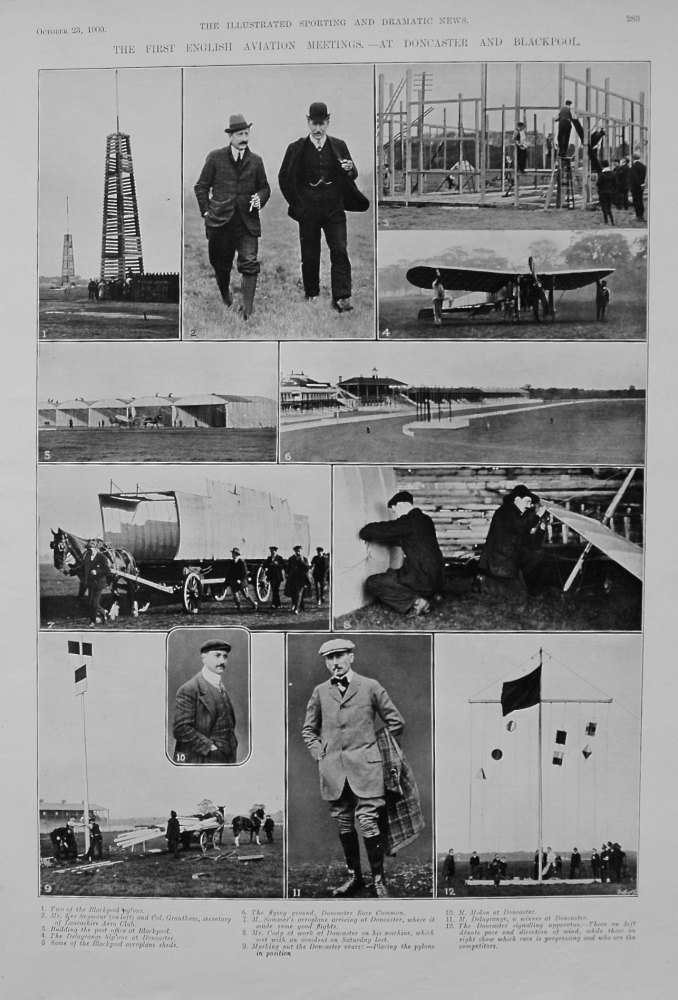 The First English Aviation Meetings. - At Doncaster and Blackpool. 1909