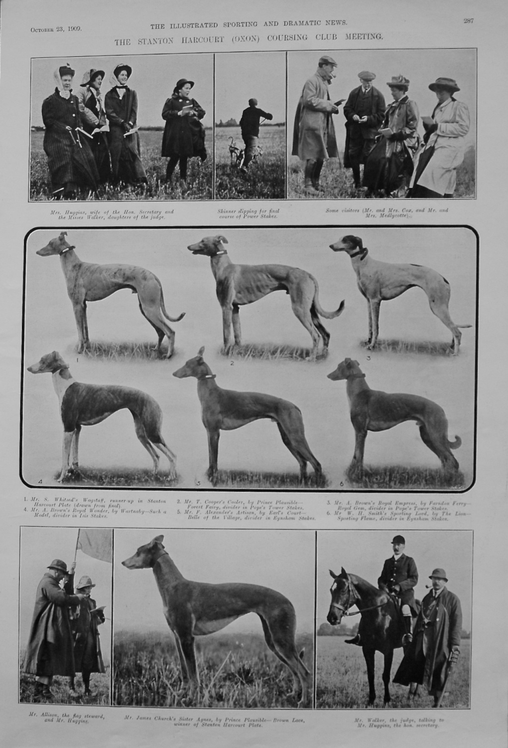 The Stanton Harcourt (Oxon) Coursing Club Meeting. 1909